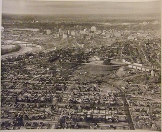 EDMONTON, ALBERTA DOWNTOWN, ANOTHER ARIAL VIEW 1962