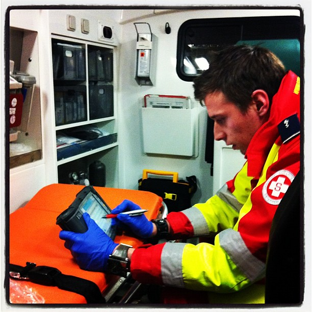 Can't believe this is happening to me. I'm in an ambulance. #injury #travel #hiccup #austria #vienna #wien #winter #snow
