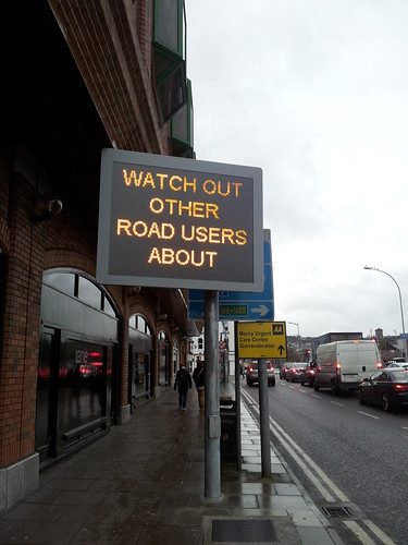 new automated road signs in Cork