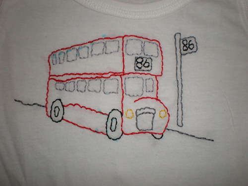 Embroidered Bus
