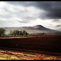 Fog on Jesse Morrow mountain this morning #reedley #country