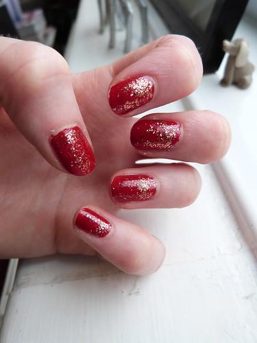 Red + glitter