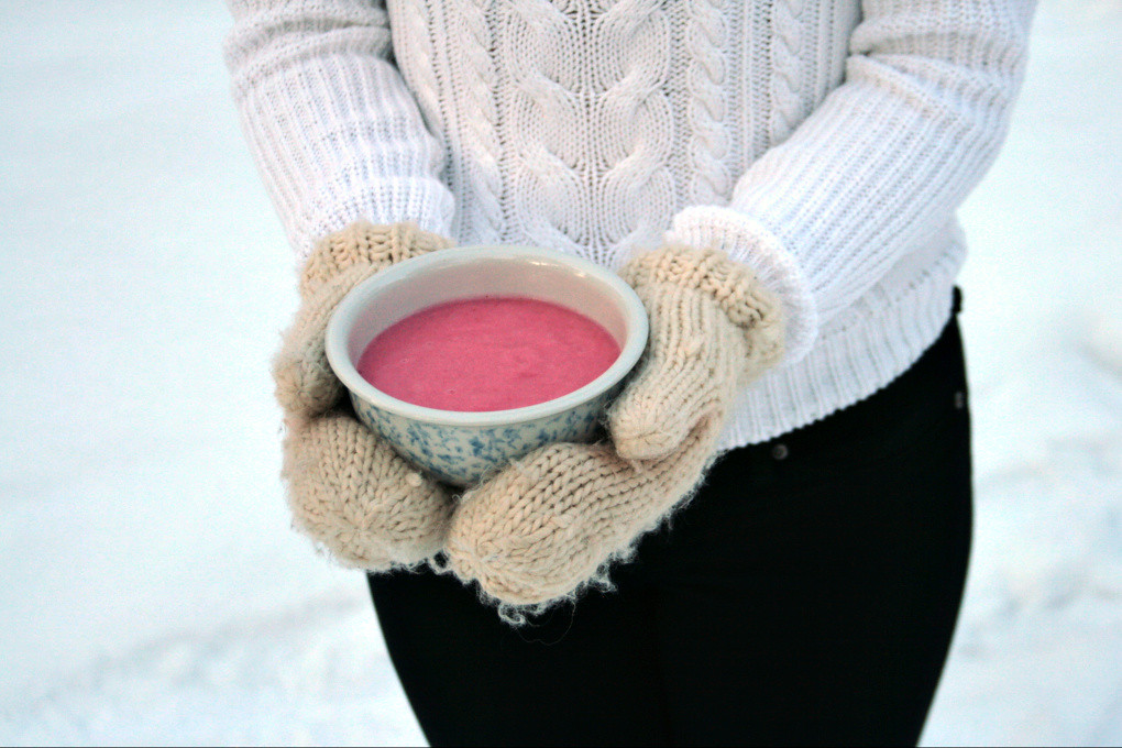 Whipped Cranberry Vanilla Porridge