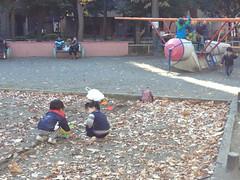 恵比寿公園、土曜昼前 2012/12/8