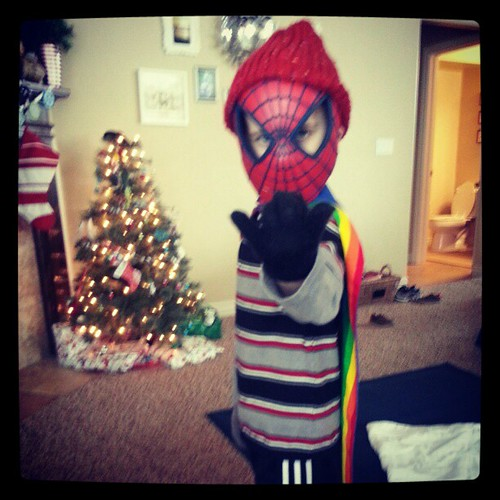 Spidey is ready for Christmas