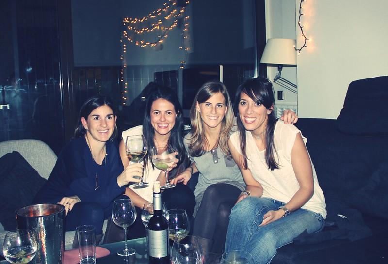 Cena pica pica con amigos