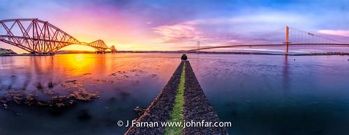 sea panorama sunrise wow scotland edinburgh scottish wideangle stunning eastcoast forthbridge forthroadbridge forthrailbridge panoramicshot