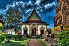 Part of Wat Phra That Hariphunchai Lamphun Thailand  ลำพูน