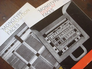 Monotype type specimen booklets