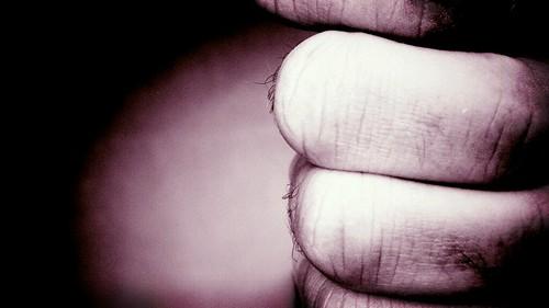 blackandwhite bw hairy hand phone knuckle fist vignette filmnoir razrmaxx ourdailychallenge hbmike2000 flickrandroidapp:filter=beijing