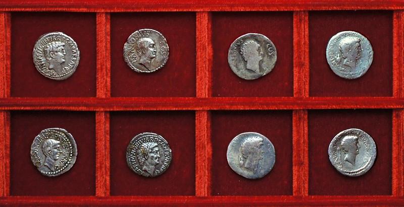 RRC 517 M.ANT, CAESAR, L.ANTONIVS, M.BARBAT, M.NERVA, L.GELL Mark Antony, Octavian, Lucius Antonius, Cocceia, Gellia, Barbatus, Ahala collection Roman Republic