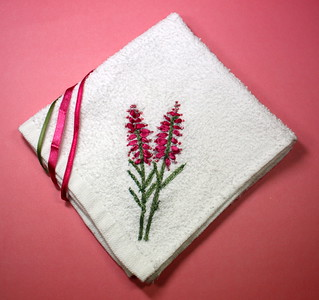 Ribbon Embroidered Face Cloth