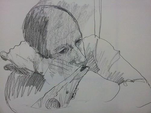 Dibujo realizado en el taller de Eduardo Alvarado by cardesin