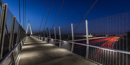 california longexposure bridge sunset usa night highway footbridge mary pedestrian ave cupertino lighttrails avenue 280 cablestayedbridge