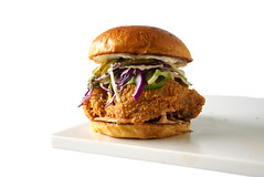 spicy fried chicken breast cabbage cole slaw Louis…