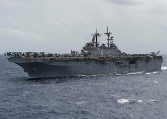 USS Boxer (LHD 4) transits the Indian Ocean July 23 en route to Singapore. (U.S. Navy/MC3 Craig Z. Rodarte)