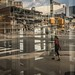 reflection of the Ballston Mall tear-down by wolfkann