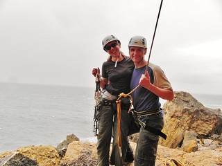 Clare and Dennis at Cascais Crag