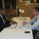 CliftonLarsonAllen Recruiter Jim Thomas interviewing a candidate --