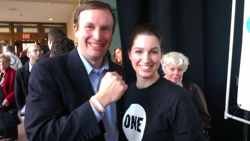 Rep. Chris Murphy with Meg Fanion