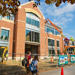 12-11-08 -- OCTOBER 2012: Amazing progress continues as the campus landscape now includes the new classroom building.