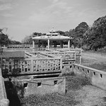 Zigzag Bridge and Pavilion above a Dried-up Pond