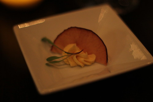 Squash mousse and apple