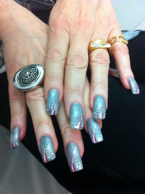 19 Ongle Gel Bleu Pastel Decor Trait Blanc Nail Art French Manucure Quickepil Proepil Flickr