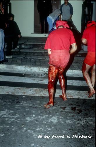 Verbicaro (CS), 2003, Riti della Settimana Santa: I Battenti a sangue.