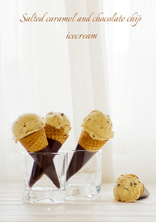 Salted caramel chocolate chip ice cream