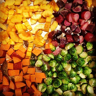 I love roasted veggies when it's cold. Tastes good and warms up the house.