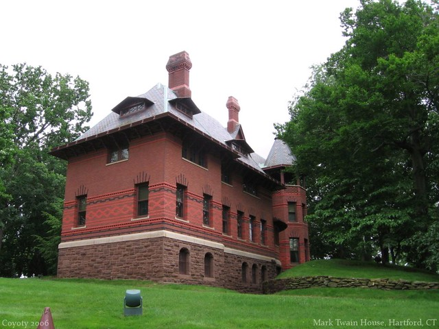 Uncommon view of the Mark Twain House in Hartford, CT