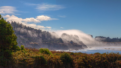 ocean california northerncalifornia fog winecountry mendocinco