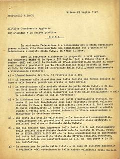 Archivio: tra Ventennio e CRI
