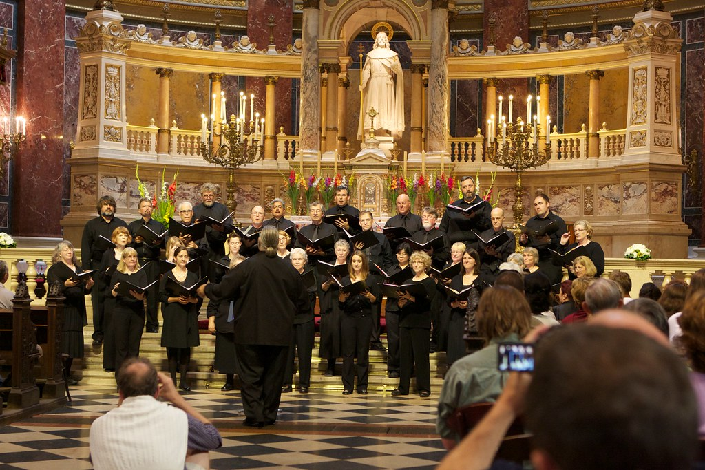 Singing with the Northwest Chamber Chorus at St Stephen's Basilica, Budapest, during our tour of Slovakia and Hungary
