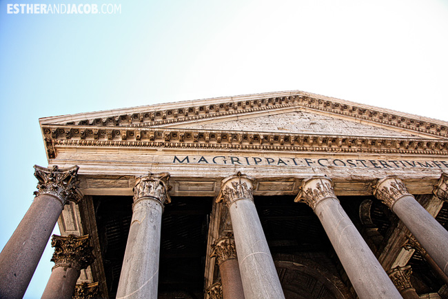 The pantheon When in Roma Day 1 | What to do and see in Rome in 48 hours | Travel Photography