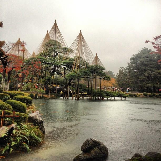 Rainy day in Kanazawa.