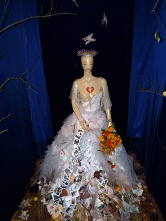 """40) 2012 day of the dead exhibit at somarts; """"our lady of metamorphosis: queen of compassion: transformation""""  artists: sue zupko, kathleen young, diana hamid"""
