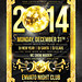 New Year 2014 disco flyer, PSD Template by foryoustudio