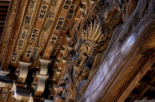 「山門の龍」 長谷寺 - 奈良