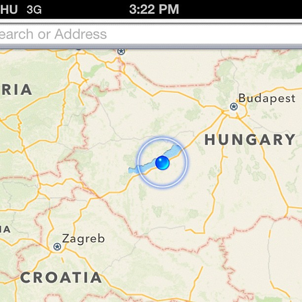 Inching along... Well, inch-ing according to my phone. Lol. Hello #Croatia ! Bye #Hungary ! #train #travel #zagreb #budapest
