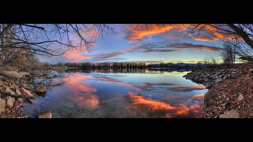 november sunset panorama lake reflection fall water clouds nikon colorado pano sigma boulder twinlakes hdr cloudscapes 2012 d300 1850mm