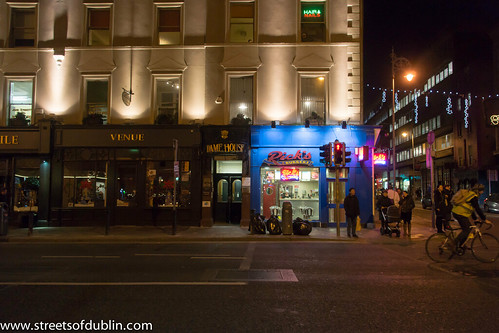 The City Of Dublin At Night: Dame Street by infomatique