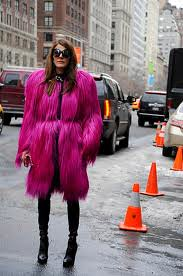 Anna Del Russo Bright Fur Trend Celebrity Style Women's Fashion