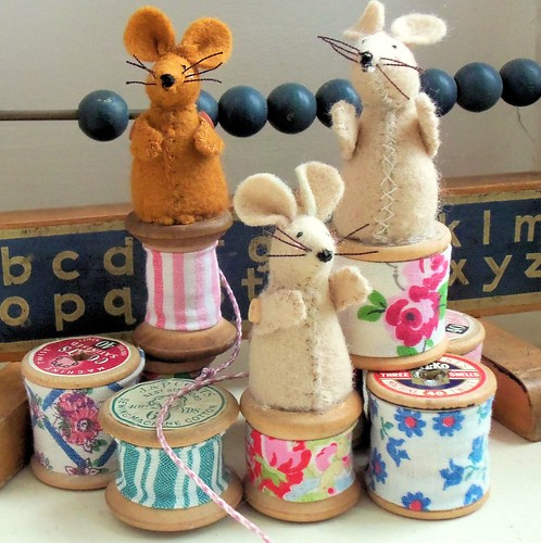 Cotton Spool Mice