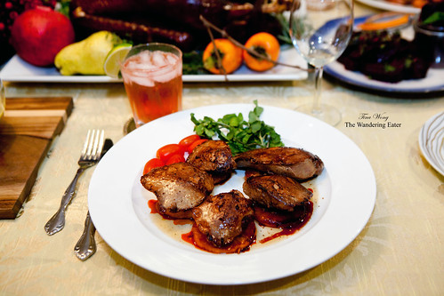 Seared goose liver with caramelized apple