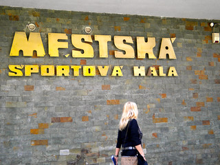 Vassula walks to the Sports Hall