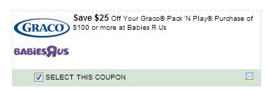 $25.00/1 Graco Pack