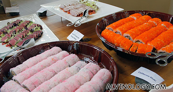 Sushi and some meat