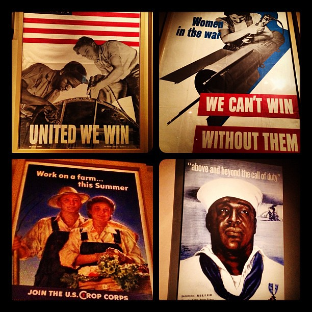 Vintage war posters at the Works War II Museum in New Orleans
